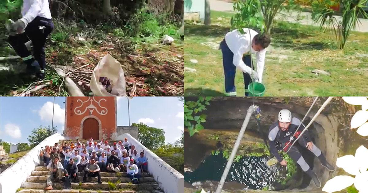 Saneamiento del cenote Yaxcabá