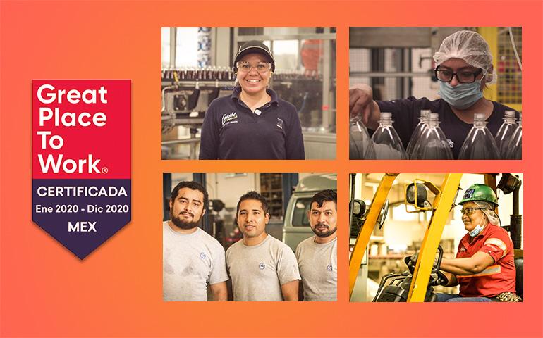 Bepensa y sus unidades de negocio reciben distintivos Great Place to Work 2020